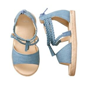 ADORABLE Gymboree Denim Sandals for Toddlers